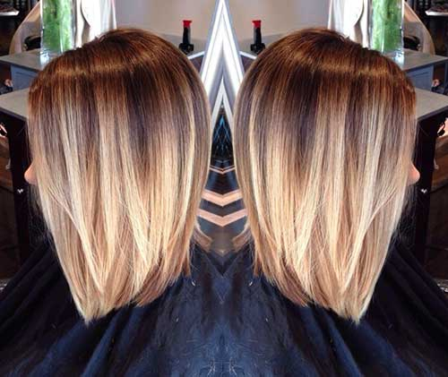 Dramatic Short Hair with Blonde Ombre Style