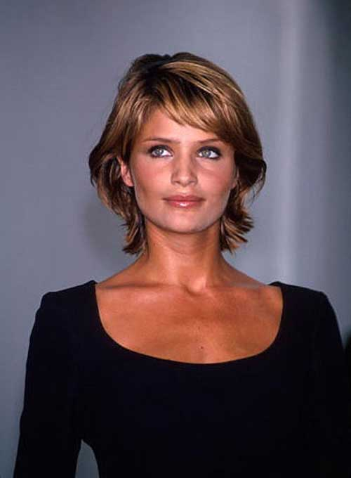 Helena Christensen Hair for Thick Bob