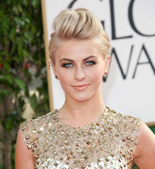 Julianne Hough Blonde Short Hair Updo
