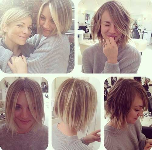 Kaley Cuoco Short Hairstyles 2015