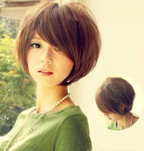 Korean Thick Straight Short Hair