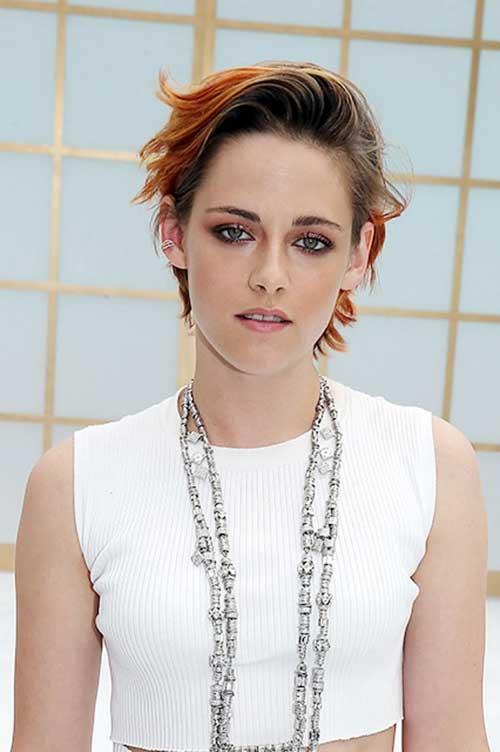 Kristen Stewart Messy Slicked Pixie Hair