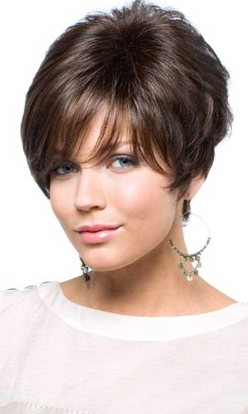 Layered Straight Short Dark Hairstyles
