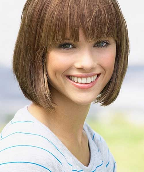 Lob Haircut with Bangs for Women
