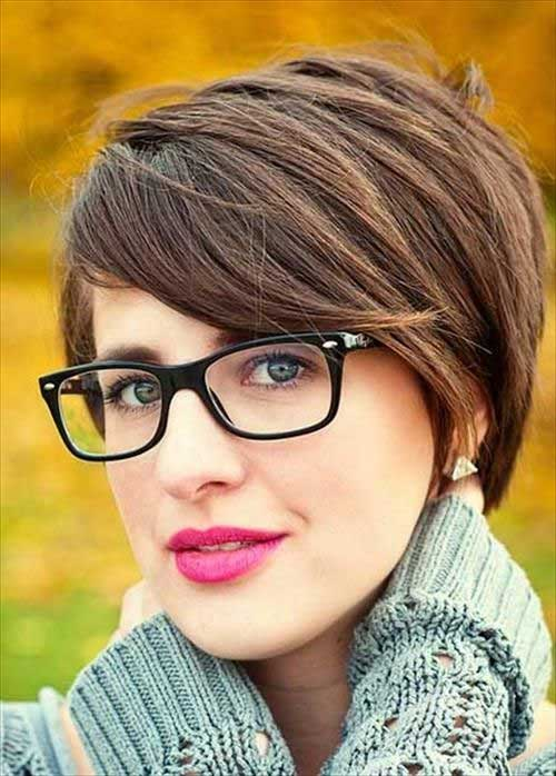 Long Brown Pixie Style for Girls