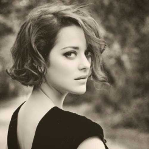 Marion Cotillard Dark Short Hair
