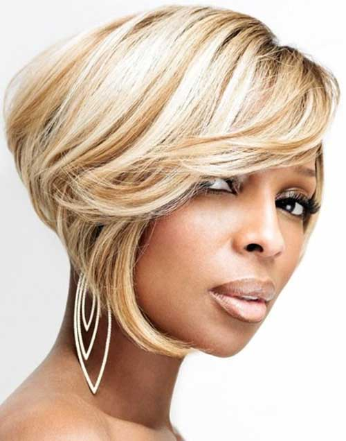 Mary J. Blige Hair Cute Short Black Hairstyles