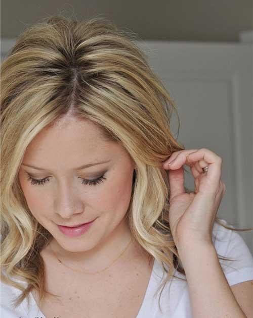 Medium Length Blonde Highlighted Hair