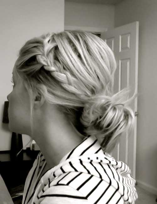 Cute Messy Buns with Braid