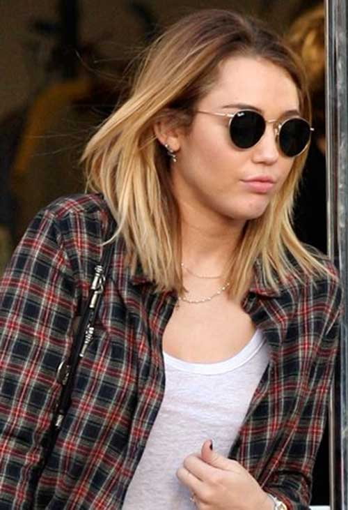 Miley Cyrus Mid Blonde Ombre Hair