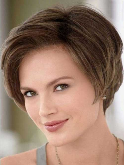 Natural Brown Color Ideas for Shor Hair
