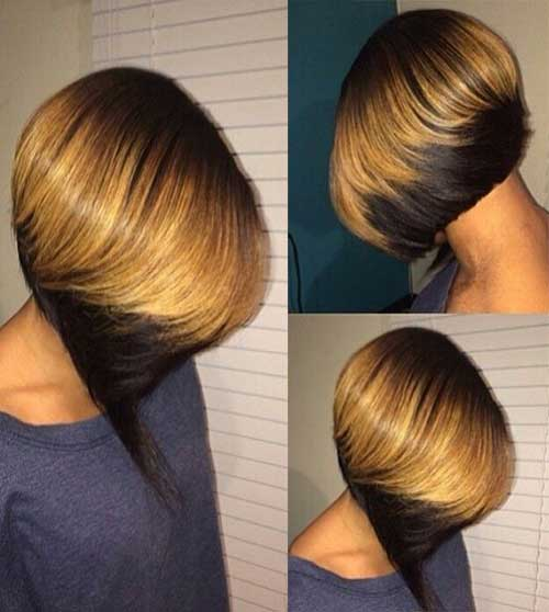 Nice Ombre Colored Invert Bob Idea