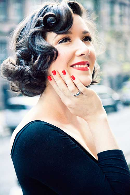 Vintage Curls Pin Up Hair