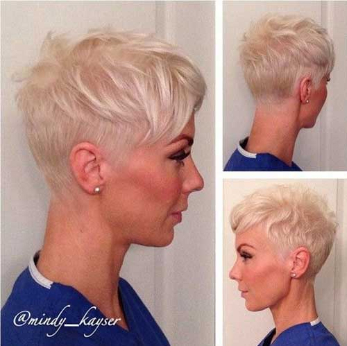 Pixie Hairstyle for Light Blonde Fine Hair