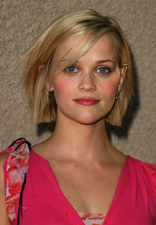 Reese Witherspoon Cute Blondie Bob Haircut