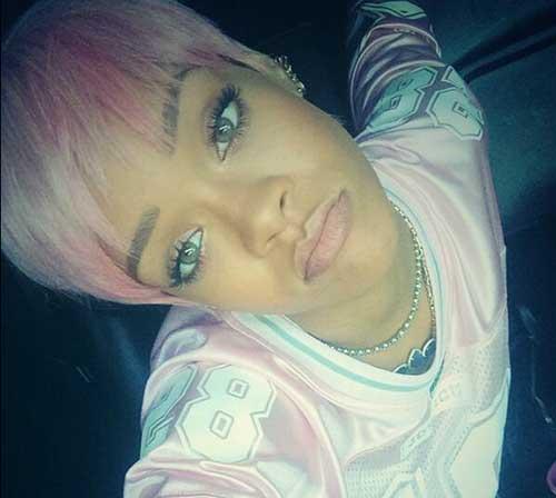Rihanna Pink Hairstyle