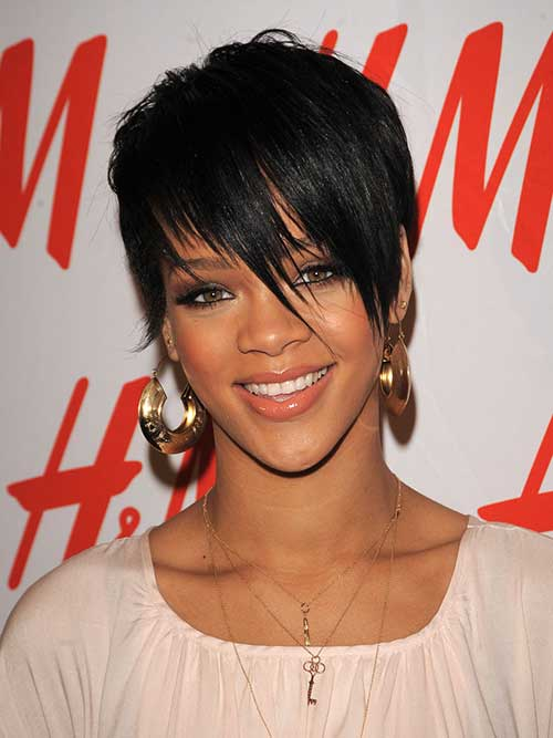 Rihanna Celebrity Short Hair
