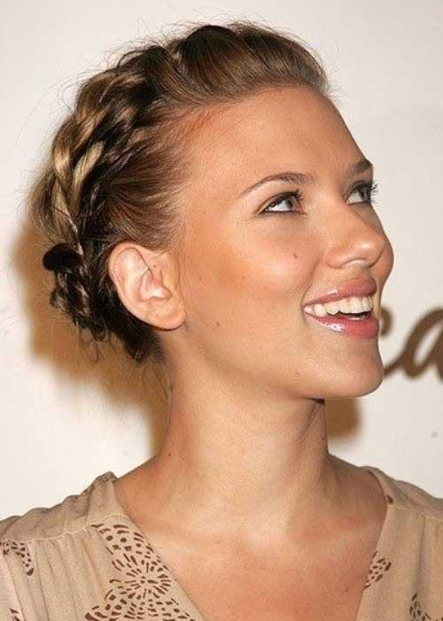 Scarlett Johansson Braided Updos for Short Hair