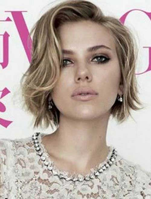 Scarlett Johansson Celebrities Short Hair