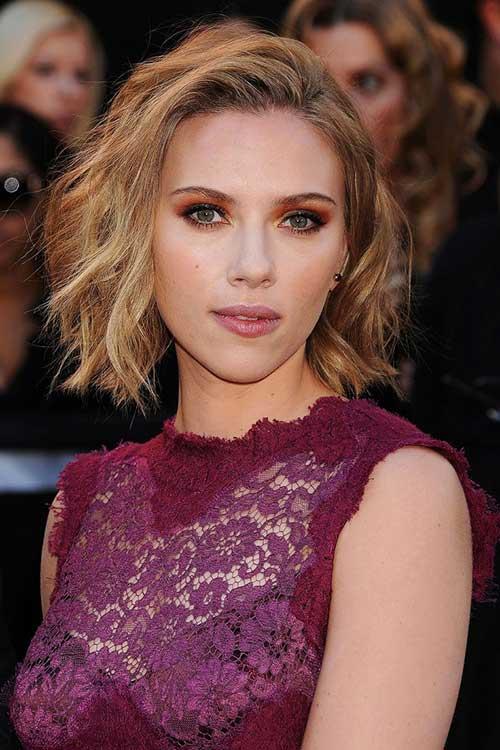 Scarlett Johansson Celebrity Wavy Hair