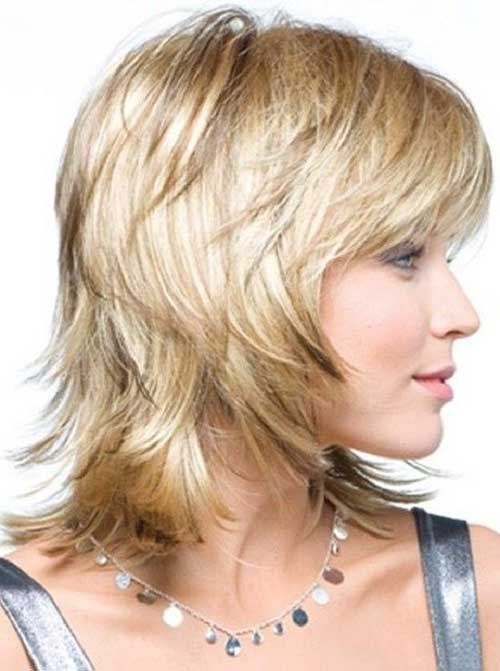 Shaggy Layered Bob Haircuts with Bangs