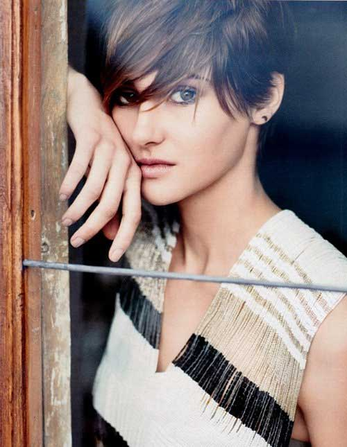 Shailene Woodley Brown Pixie Hairstyle