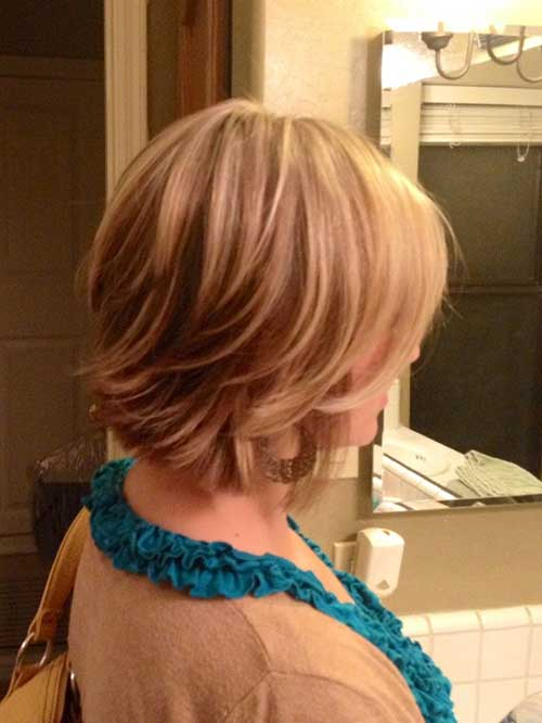 Funky Short Blonde Layered Hairstyle