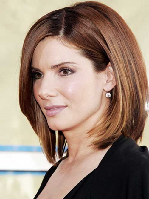 Sandra Bullock Short Colored Hair Idea