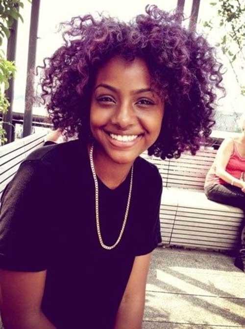 Justine Skye Short Curly Black Hair