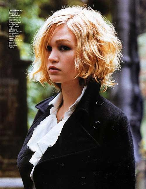 Julia Stiles Short Curly Haircuts