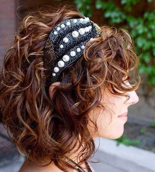 Medium Bob Short Curly Hairstyles