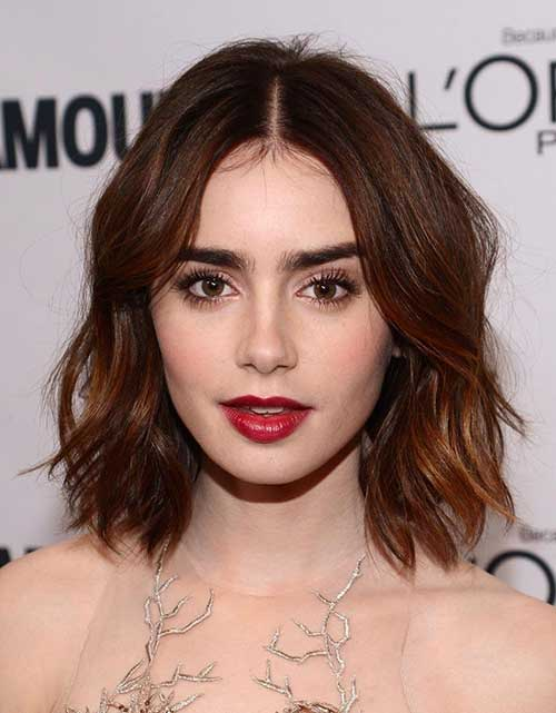 Lily Collins Short Hair Celebrities