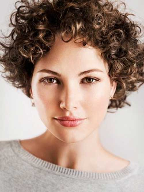 Stylish Short Hair Ringlet Curls