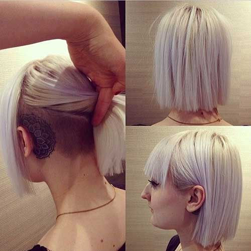 Straight Short Hair Undercut