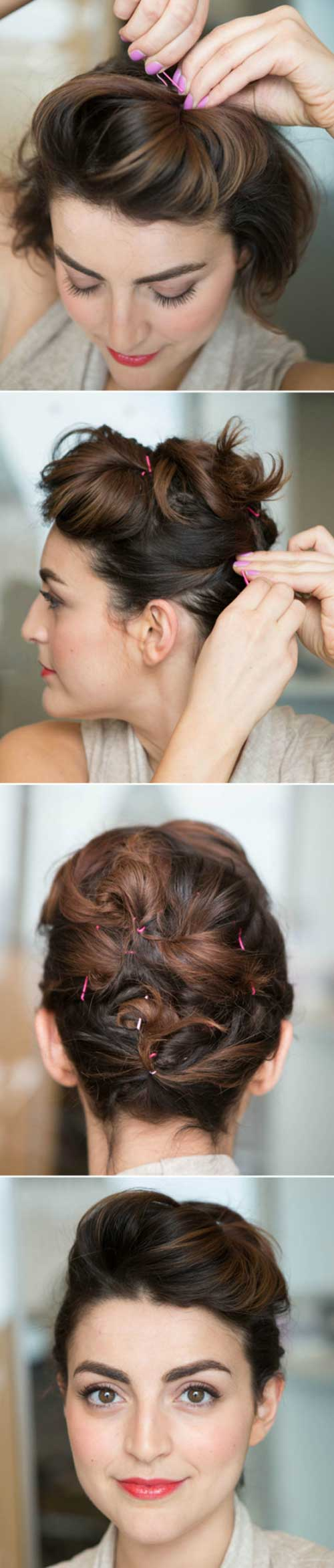 Styling Short Hair with Bobby Pins