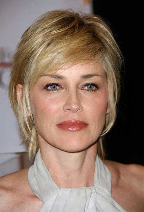 Short Hairstyles for Thin Hair with Side Bangs