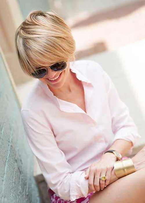 Short Hairstyles 2014 for Fine Blonde Lighted Hair