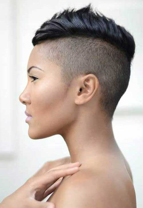 Short Shaved Mohawk Hairstyles for Black Women