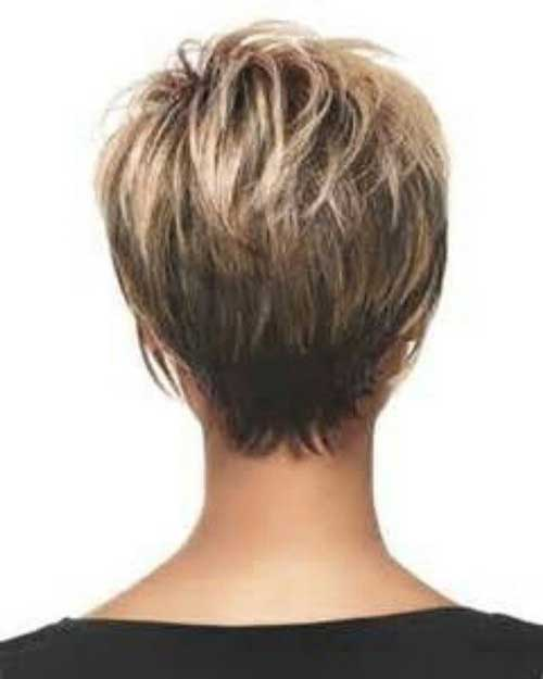 Short Layered Pixie Back View
