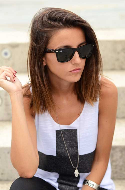 Short to Mid Straight Bobbed Hair Styles