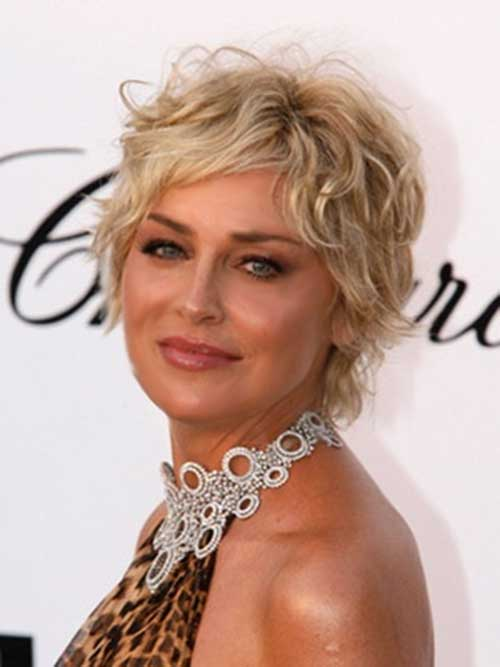 Wavy Short Hairstyles for Women Over 50
