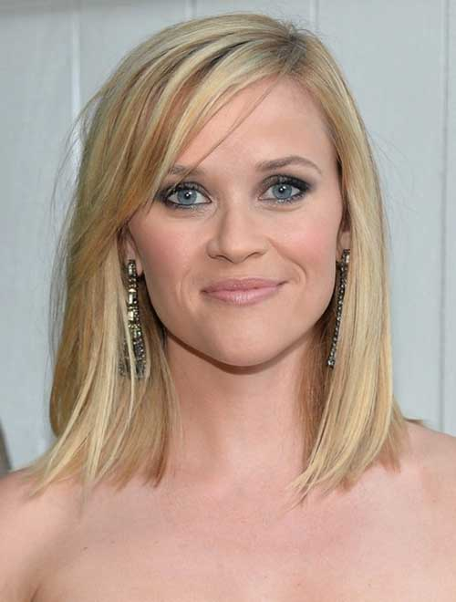 Reese Witherspoon Celeb Short Hair Styles Mid Lenght
