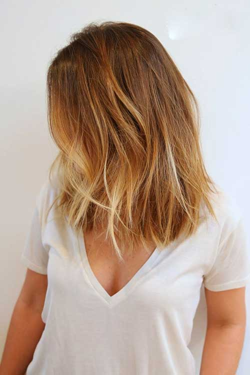 Ombre Soft Colors with Choppy Hairstyle