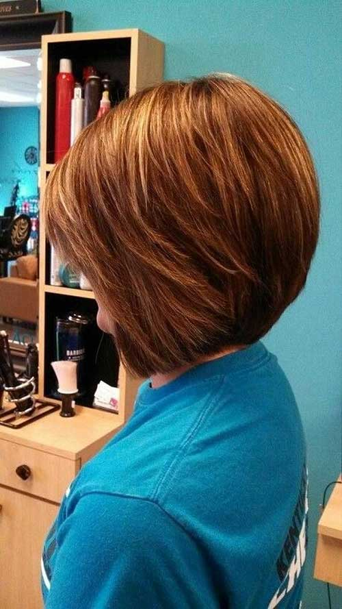 Stacked Honey Blonde Hair Color Bob