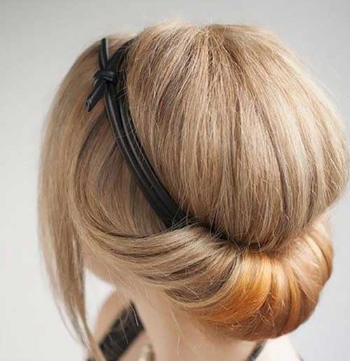 Romantic Updo for Short Hair