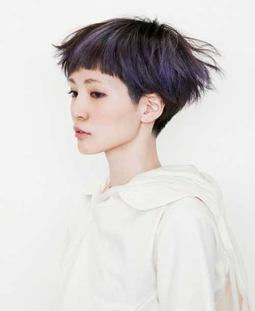 Straight Short Bob-Pixie Cut with Short Blunt Bangs