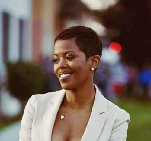 Thin Very Short African American Short Hairstyles