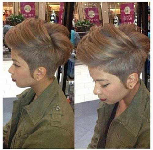 Ash Blonde Color for Short Hairstyles 2015