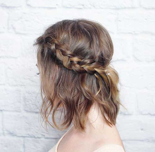 Braid Crown for Short Brown Hair
