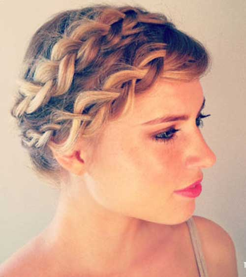 Braided Updos for Short Hairstyles